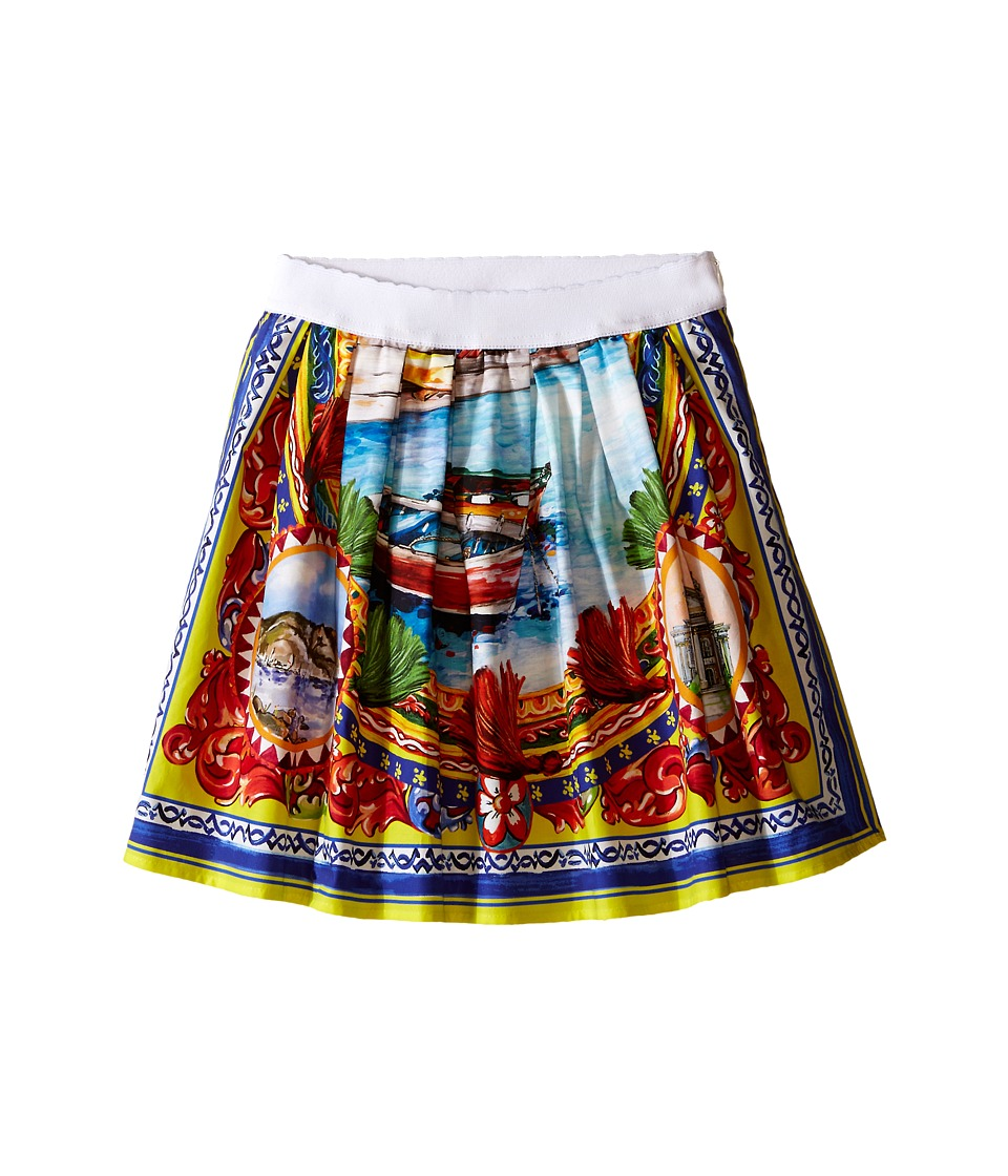 Dolce & Gabbana Kids - River Print Skirt (Toddler/Little Kids) (Multi Print) Girl's Skirt