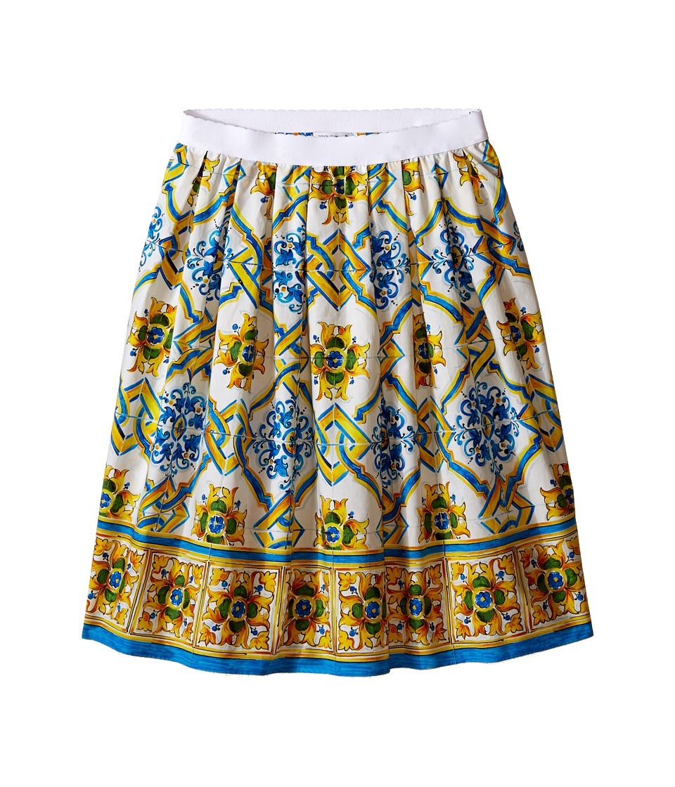 Dolce & Gabbana Kids - Medallion Print Skirt (Big Kids) (Tile Print) Girl's Skirt
