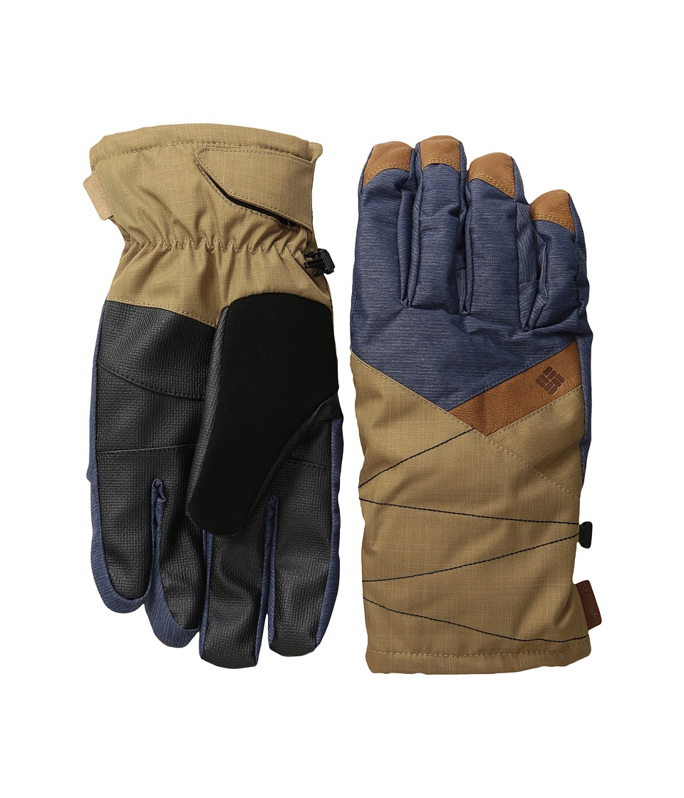 Columbia - St. Anthony Gloves (India Ink Crossdye/Delta Melange) Ski Gloves