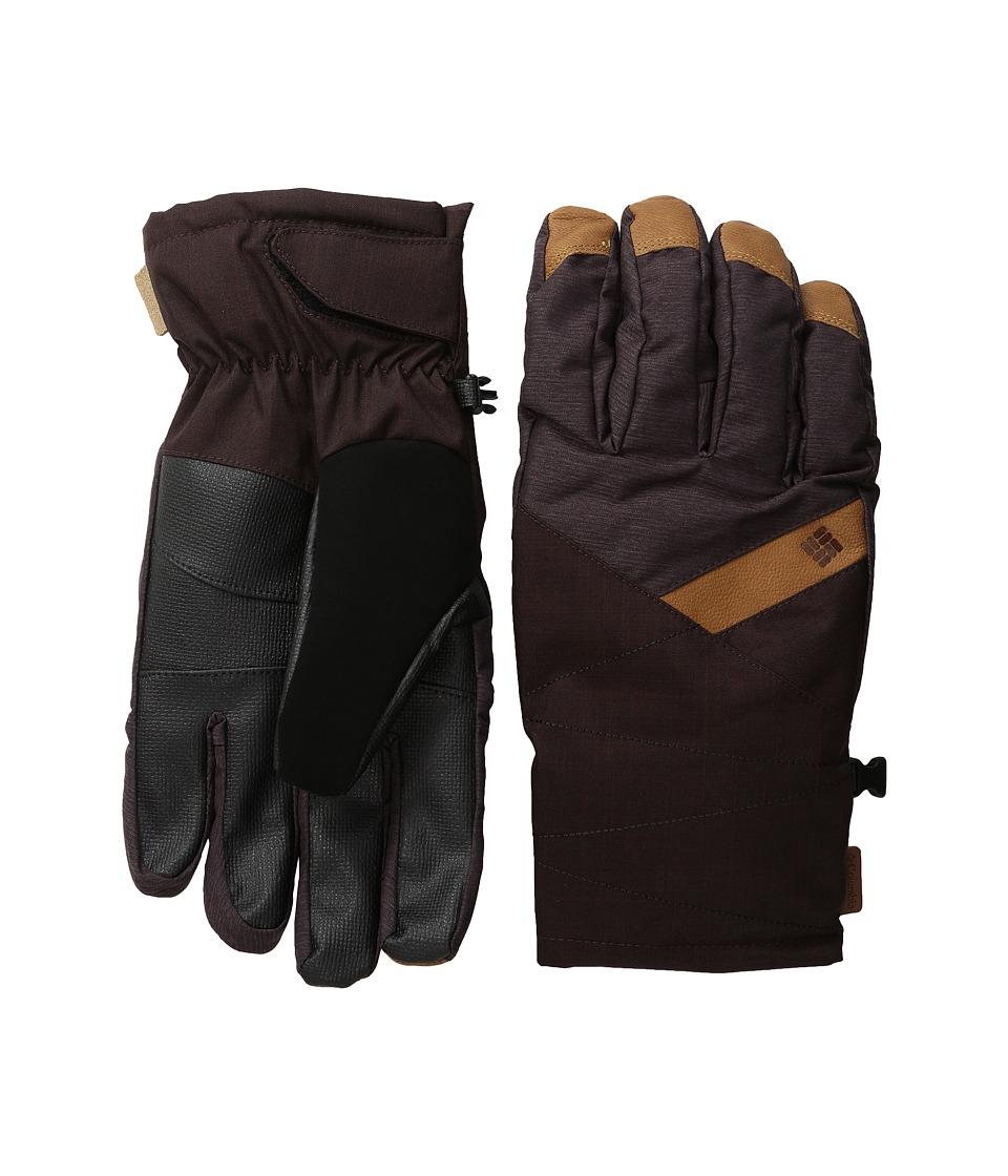 Columbia - St. Anthony Gloves (New Cinder Crossdye/New Cinder Melange) Ski Gloves