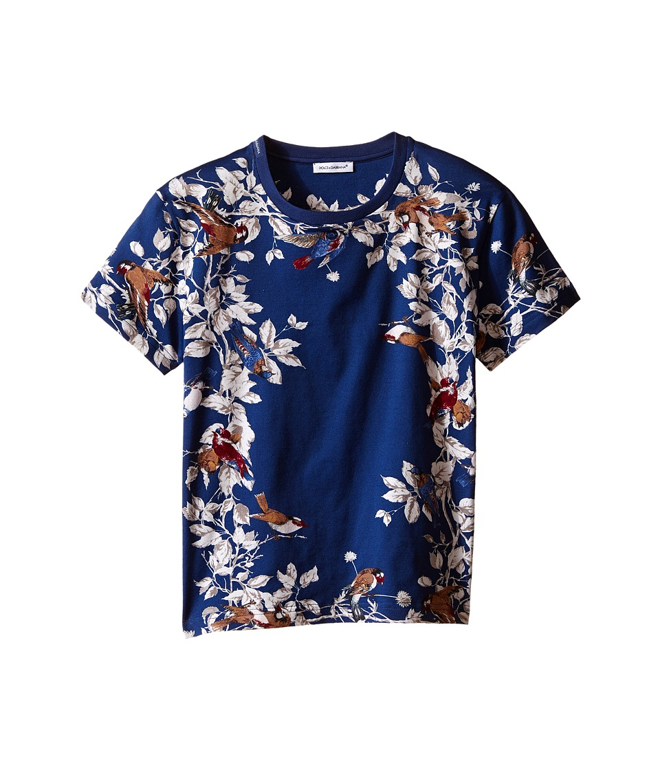 Dolce & Gabbana Kids - Jersey Printed T-Shirt (Toddler/Little Kids) (Blue/Print) Boy's T Shirt