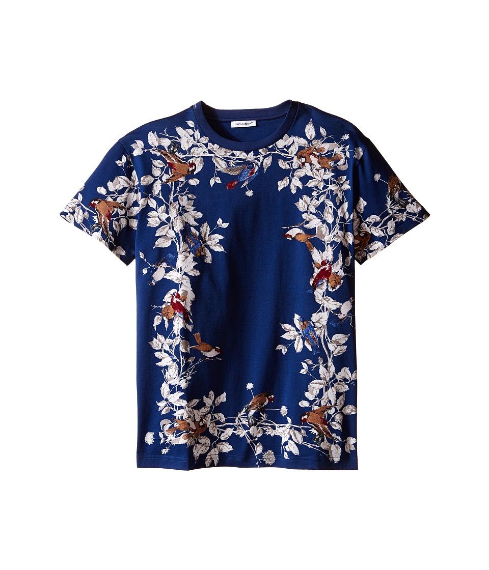 Dolce & Gabbana Kids - Jersey Printed T-Shirt (Big Kids) (Blue/Print) Boy's T Shirt