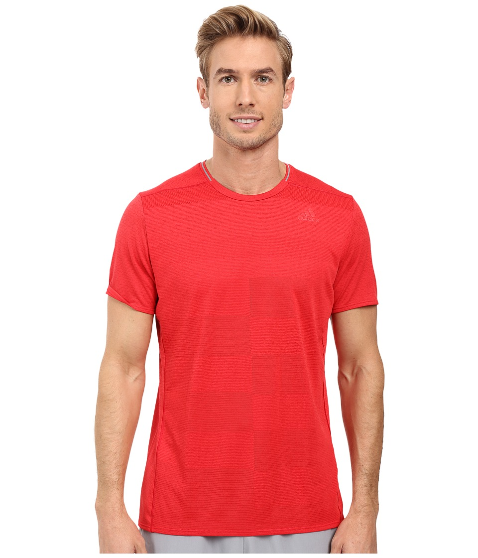 adidas - Supernova Short Sleeve Tee (Ray Red) Men's Short Sleeve Pullover