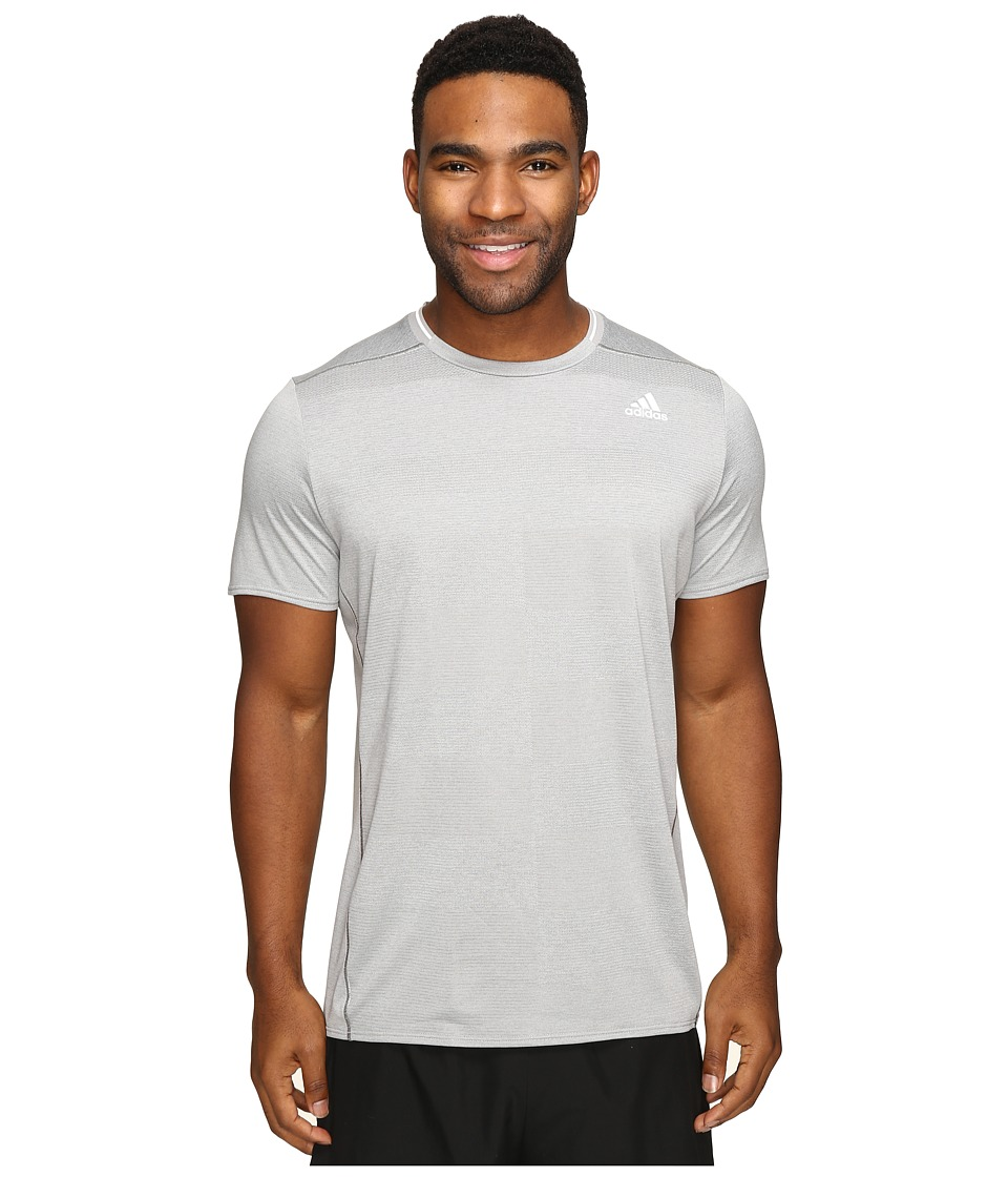 adidas - Supernova Short Sleeve Tee (MGH Solid Grey) Men's Short Sleeve Pullover