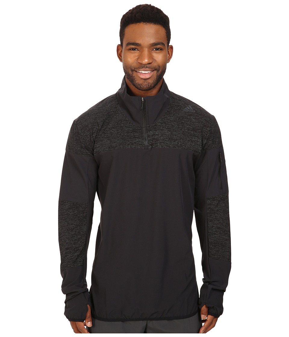 adidas - Supernova Storm 1/2 Zip (Black) Men's Sweatshirt