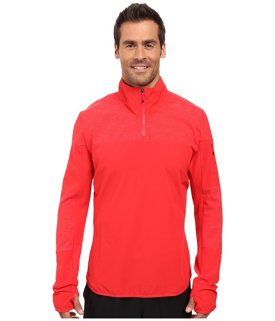 adidas - Supernova Storm 1/2 Zip (Ray Red) Men's Sweatshirt