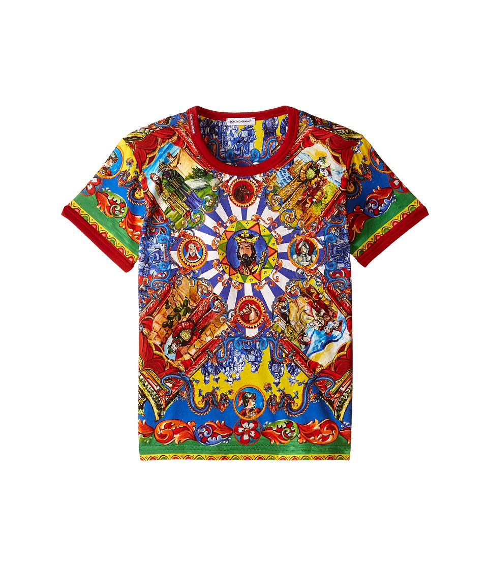 Dolce & Gabbana Kids - Pinwheel T-Shirt (Toddler/Little Kids) (Red/Print) Boy's T Shirt
