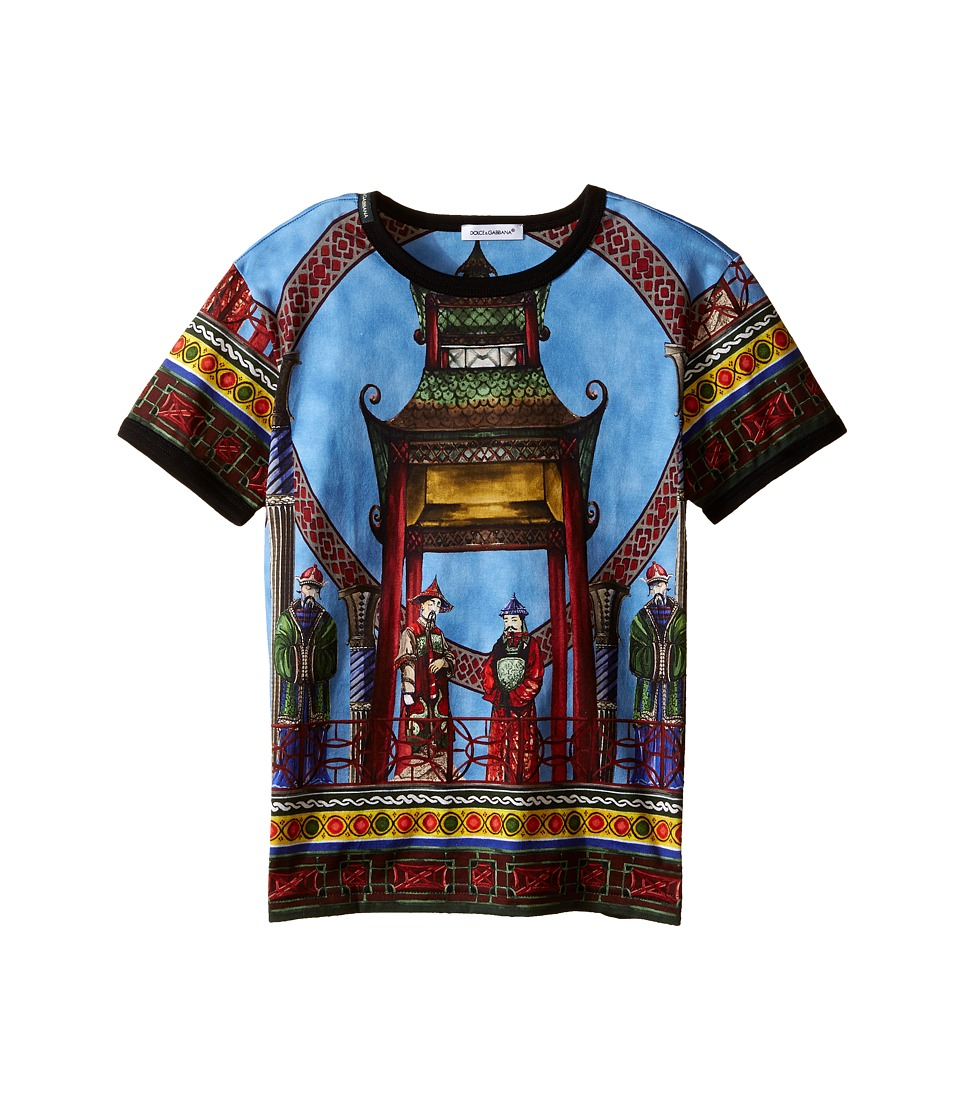 Dolce & Gabbana Kids - Pagoda T-Shirt (Toddler/Little Kids) (Multi Print) Boy's Short Sleeve Pullover