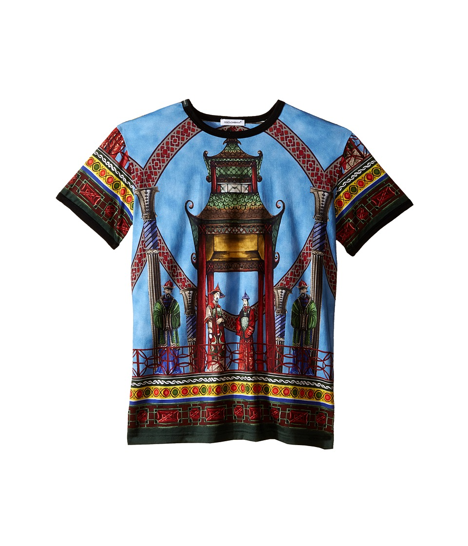Dolce & Gabbana Kids - Pagoda T-Shirt (Big Kids) (Multi Print) Boy's T Shirt