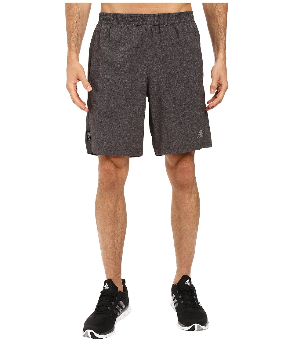 adidas - AKTIV Heather Dual Shorts (Utility Black) Men's Shorts