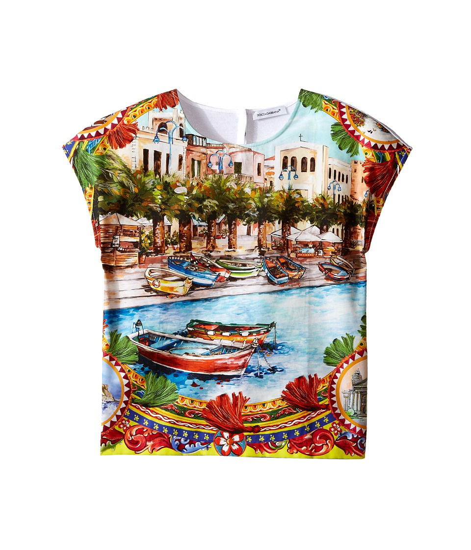 Dolce & Gabbana Kids - River Print T-Shirt (Toddler/Little Kids) (Multi Print) Girl's T Shirt