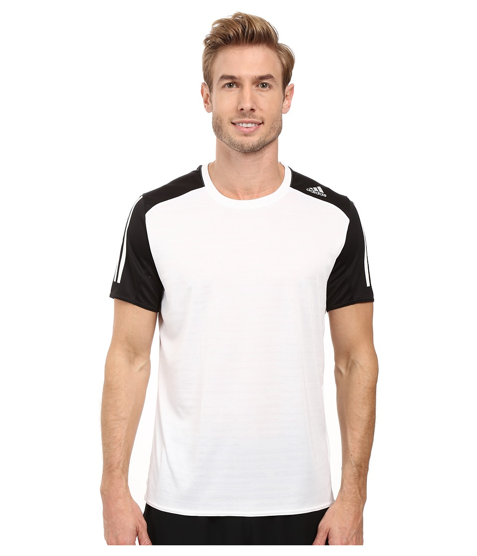 adidas - Response Short Sleeve Tee (White/Black) Men's T Shirt