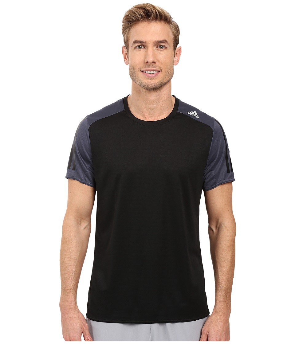 adidas - Response Short Sleeve Tee (Black/Utility Black) Men's T Shirt