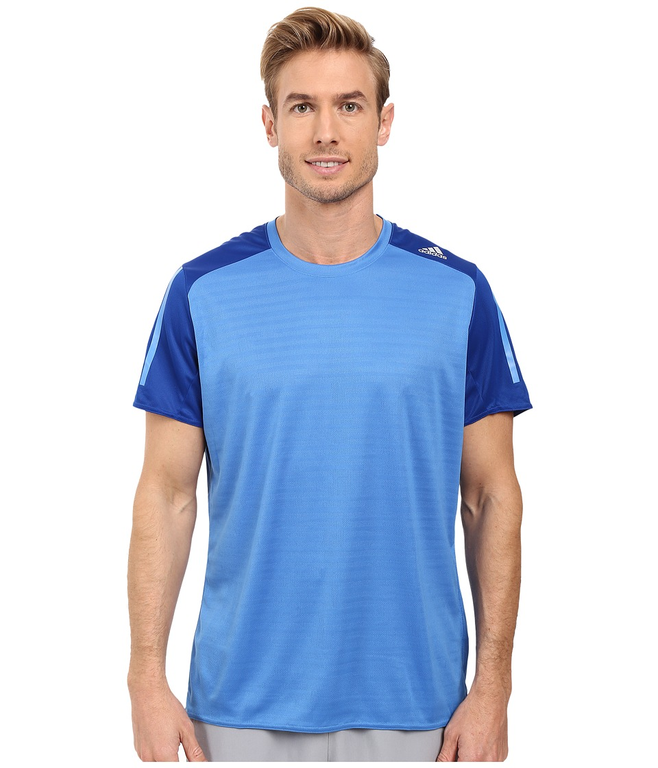 adidas Response Short Sleeve Tee (Ray Blue/Collegiate Royal) Men