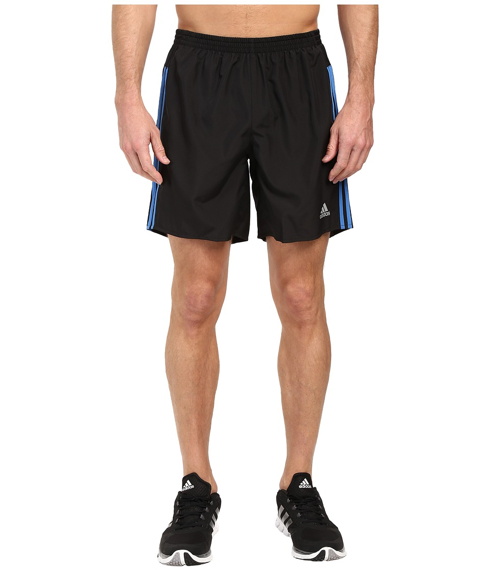 adidas - Response Shorts (Black/Ray Blue) Men's Shorts