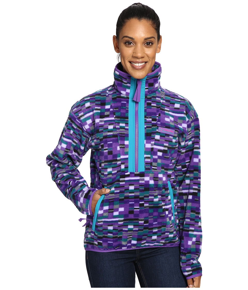 Columbia CSC Originals Printed Fleece (Royal Purple Retro Print) Women