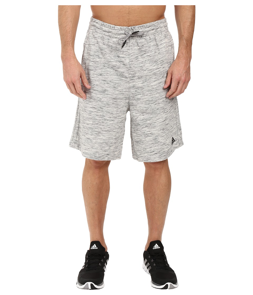 adidas - Heather Knit Shorts (Medium Grey Heather) Men's Shorts