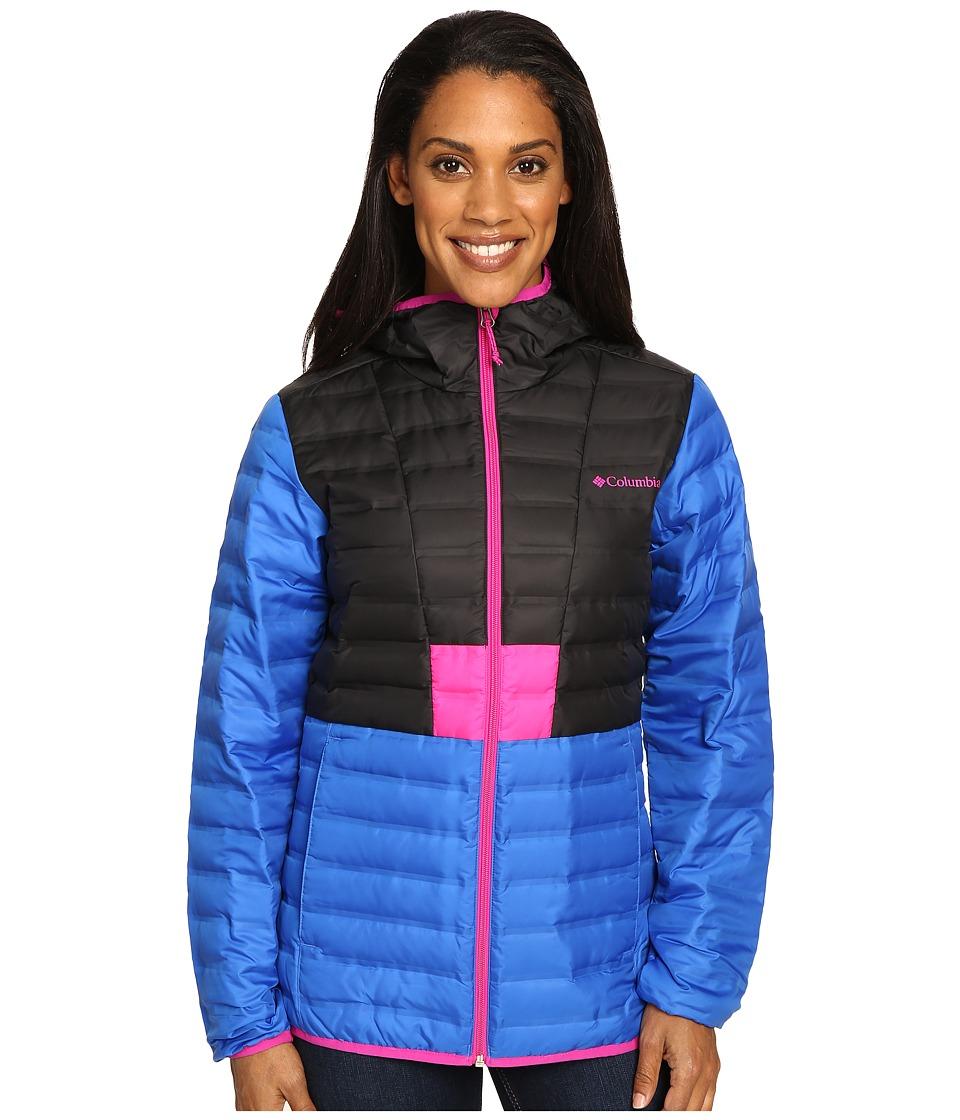 Columbia - Flashback Down Jacket (Blue Macaw/Black/Groovy Pink) Women's Coat