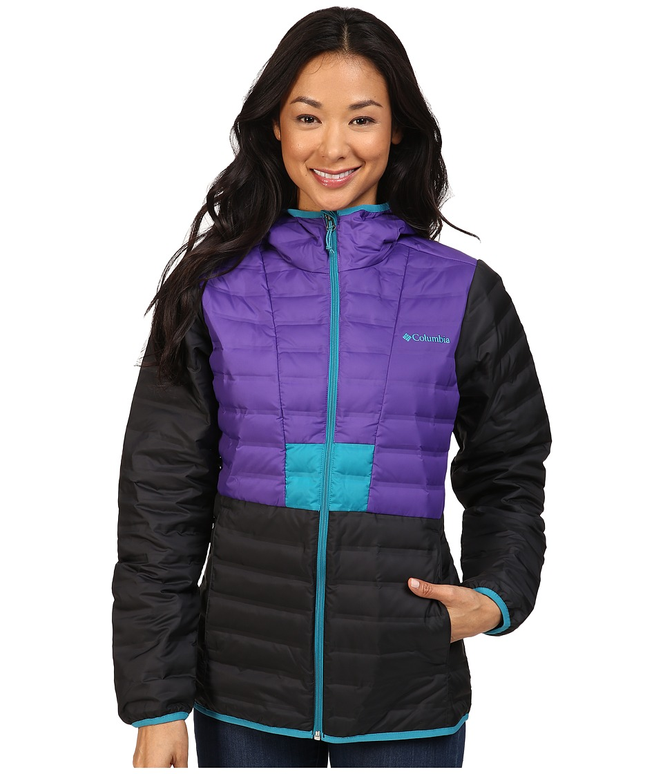 Columbia - Flashback Down Jacket (Black/Royal Purple/Sea Level) Women's Coat