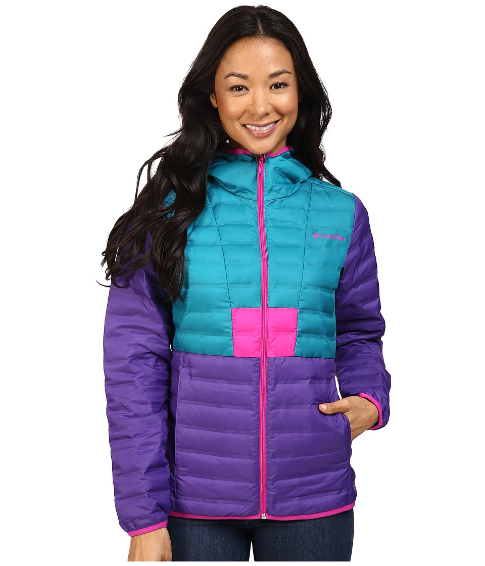 Columbia Flashback Down Jacket (Royal Purple/Sea Level/Groovy Pink) Women