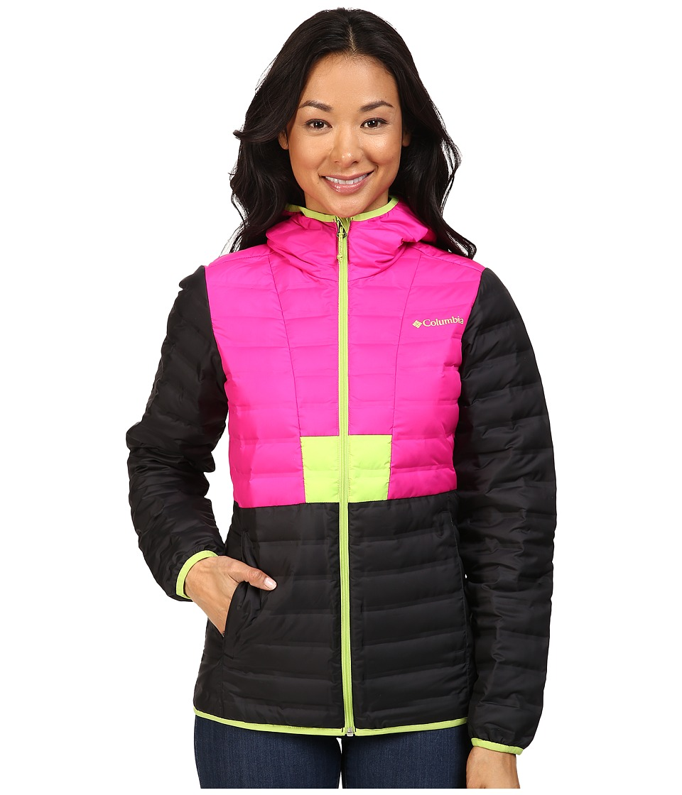 Columbia - Flashback Down Jacket (Black/Groovy Pink/Fission) Women's Coat