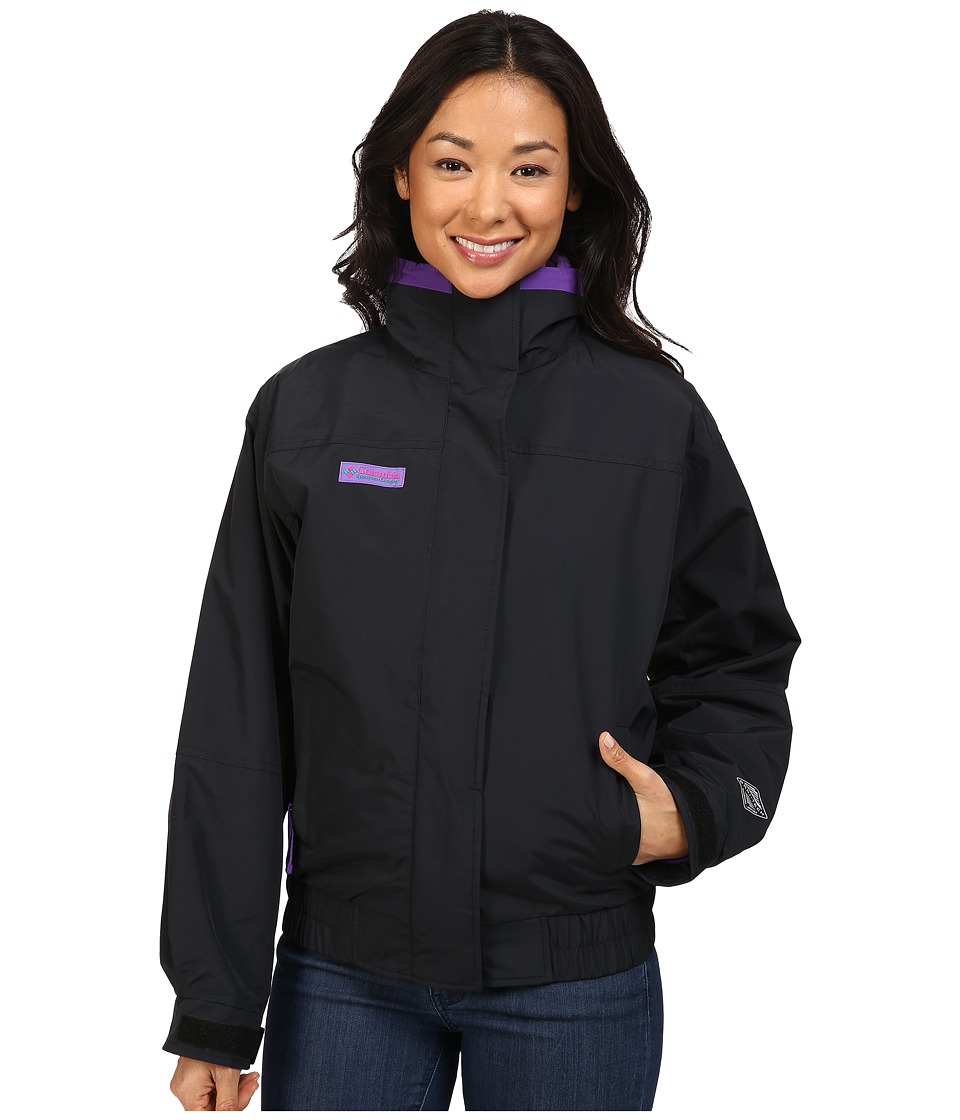 Columbia - Bugaboo 1986 Interchange (Black/Royal Purple) Women's Coat