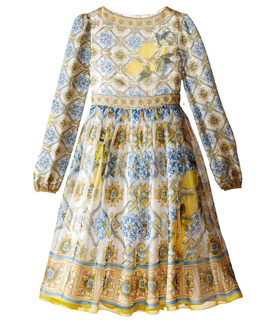Dolce & Gabbana Kids - Medallion Print Dress (Big Kids) (Multi Print) Girl's Dress