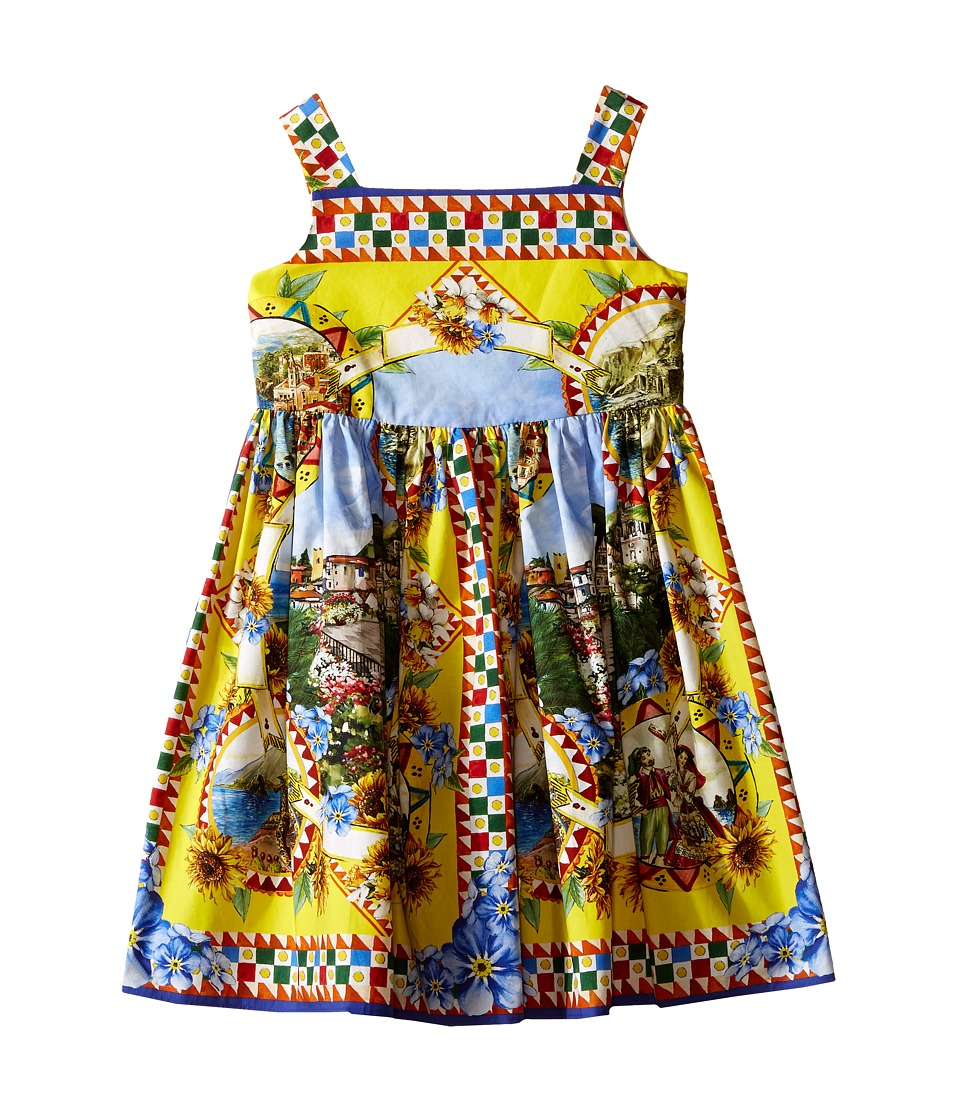 Dolce & Gabbana Kids - Printed Dress (Toddler/Little Kids) (Multi Print) Girl's Dress