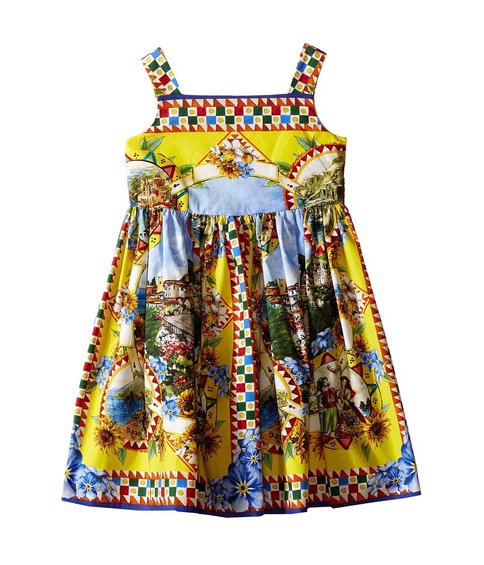 Dolce & Gabbana Kids - Printed Dress (Toddler/Little Kids) (Multi Print) Girl's Dress