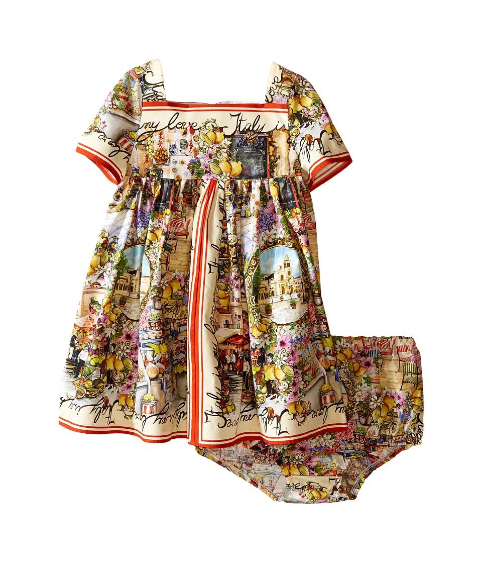 Dolce & Gabbana Kids - Printed Dress (Infant) (Multi Print) Girl's Dress