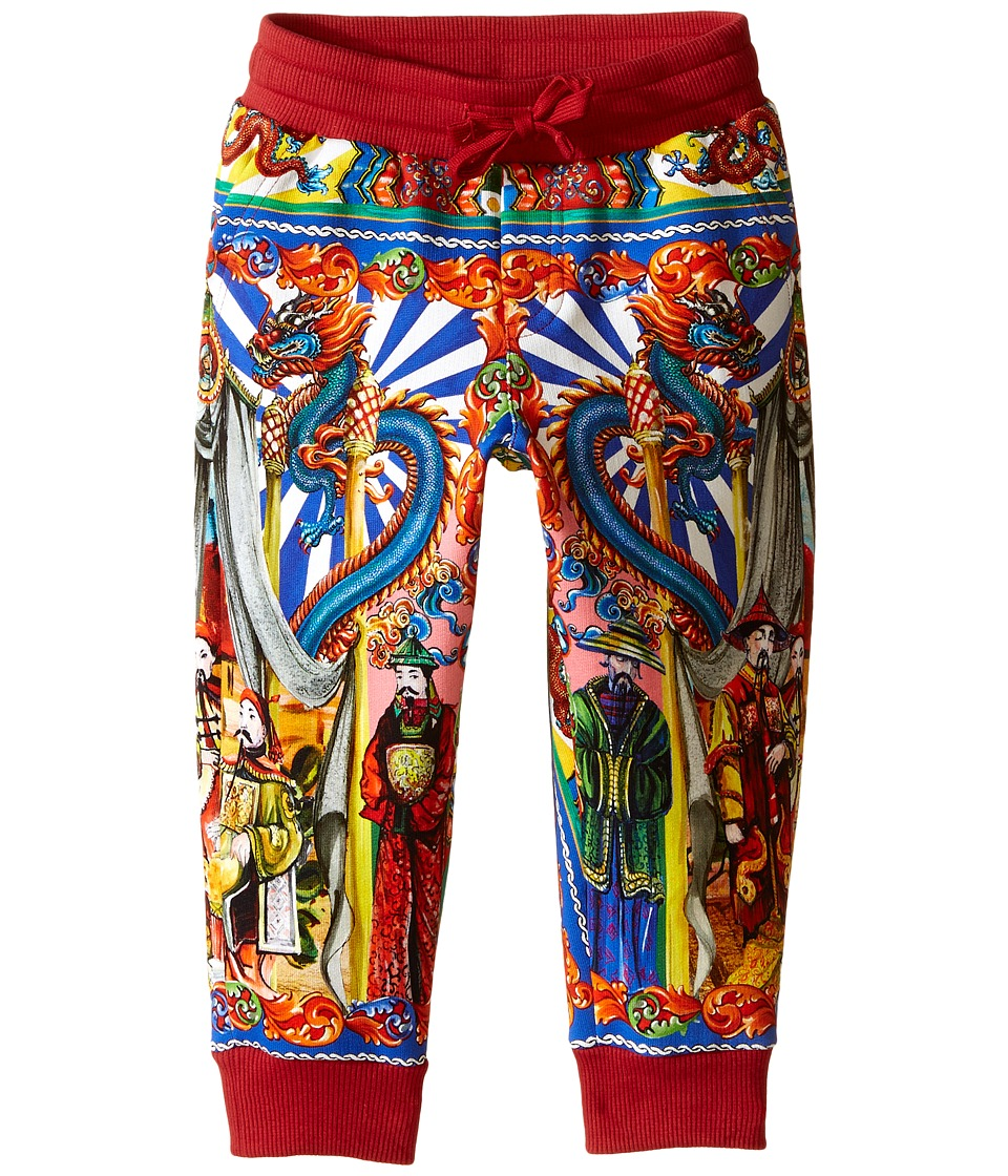 Dolce & Gabbana Kids - Printed Jogger Pants (Toddler/Little Kids) (Red/Print) Boy's Casual Pants