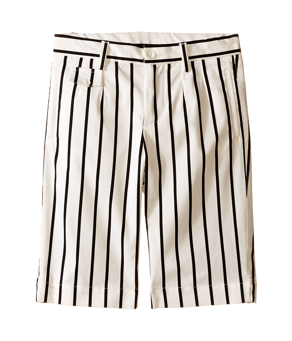 Dolce & Gabbana Kids - Striped Shorts (Toddler/Little Kids) (Black/White Stripe Print) Boy's Shorts