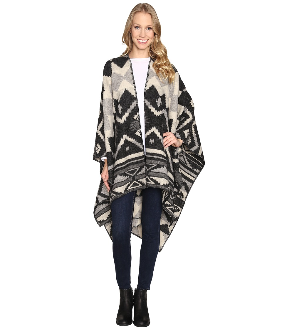 Woolrich - Somerton Jacquard Poncho (Charcoal) Coat