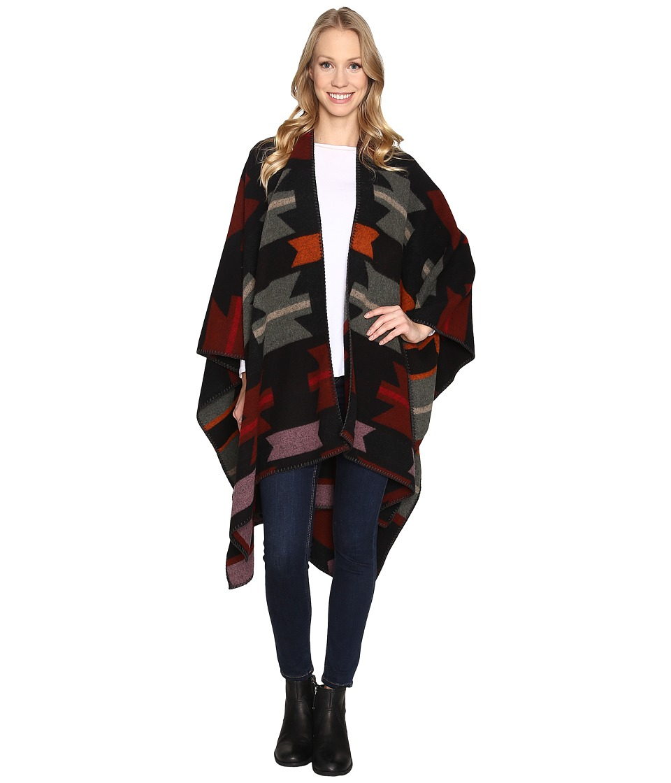 Woolrich - Forest Ridge Jacquard Poncho (Geronimo Jacquard) Coat
