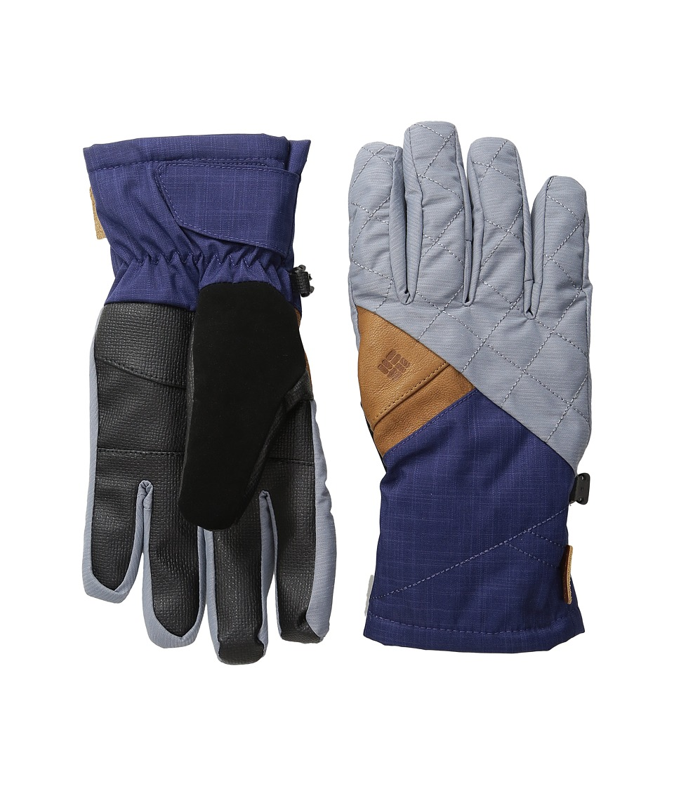 Columbia St. Anthony Gloves (Tradewinds Grey Crossdye/Nightshade Melange) Ski Gloves