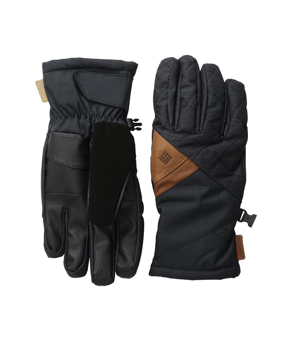 Columbia - St. Anthony Gloves (Black Crossdye/Black Melange) Ski Gloves