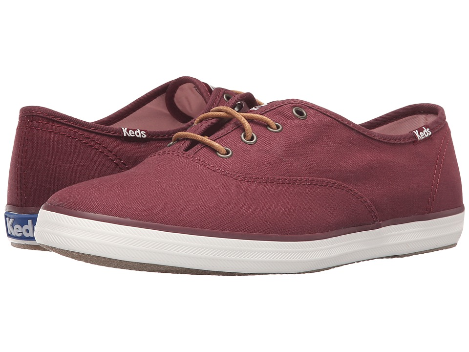 Keds - Champion Seasonal Solids (Burgundy) Women's Lace up casual Shoes