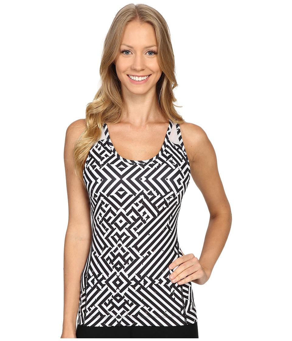 ASICS - Lite-Show Bra Tank Top (Maze Print) Women's Sleeveless