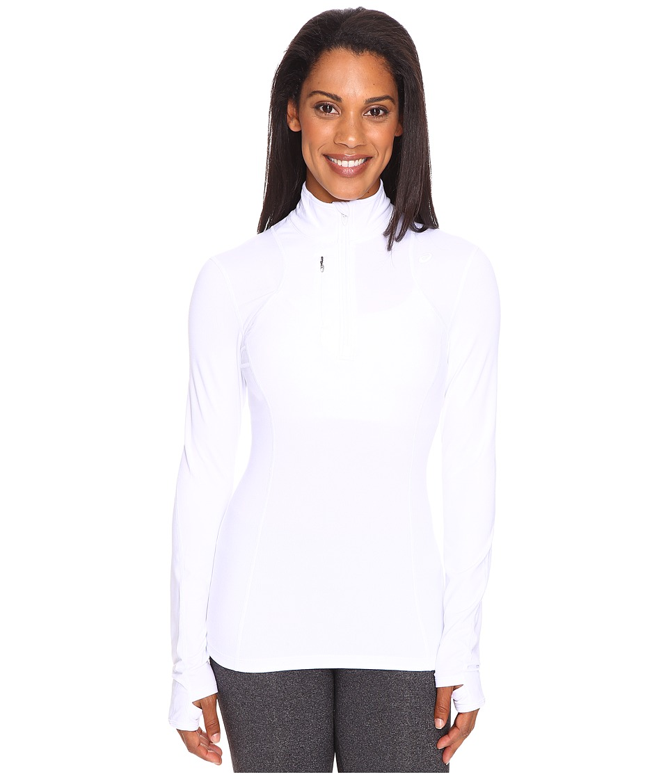ASICS - Thermopolis 1/2 Zip (Real White) Women's Workout