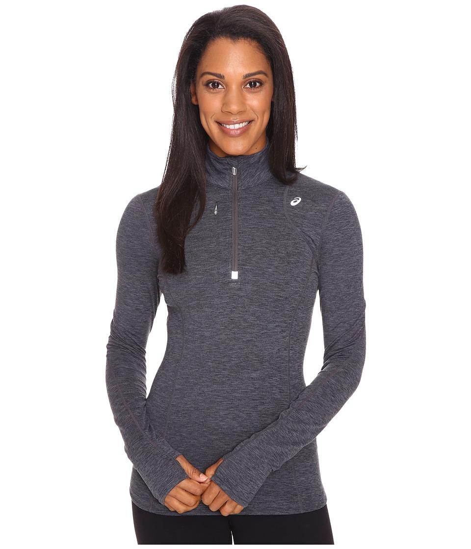 ASICS - Thermopolis 1/2 Zip (Dark Grey Heather) Women's Workout