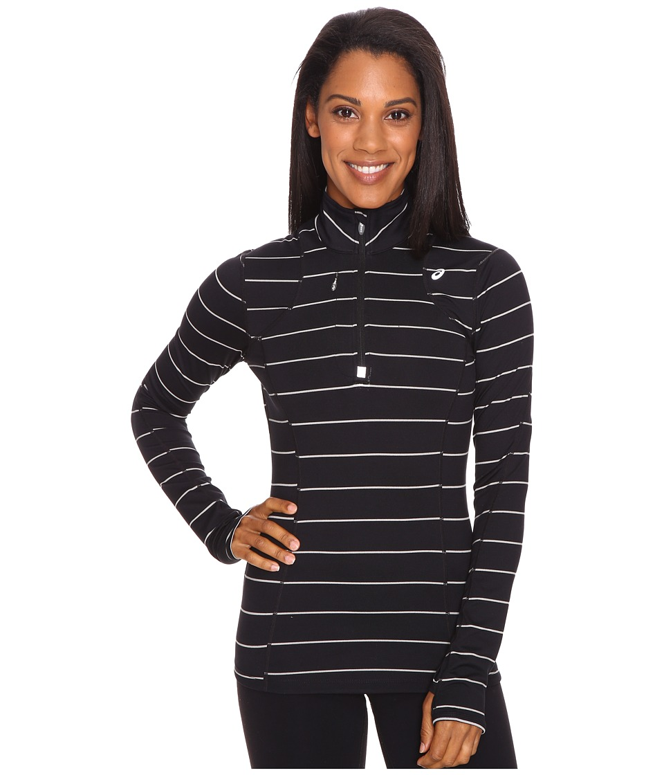 ASICS - Thermopolis 1/2 Zip (Black Stripe) Women's Workout