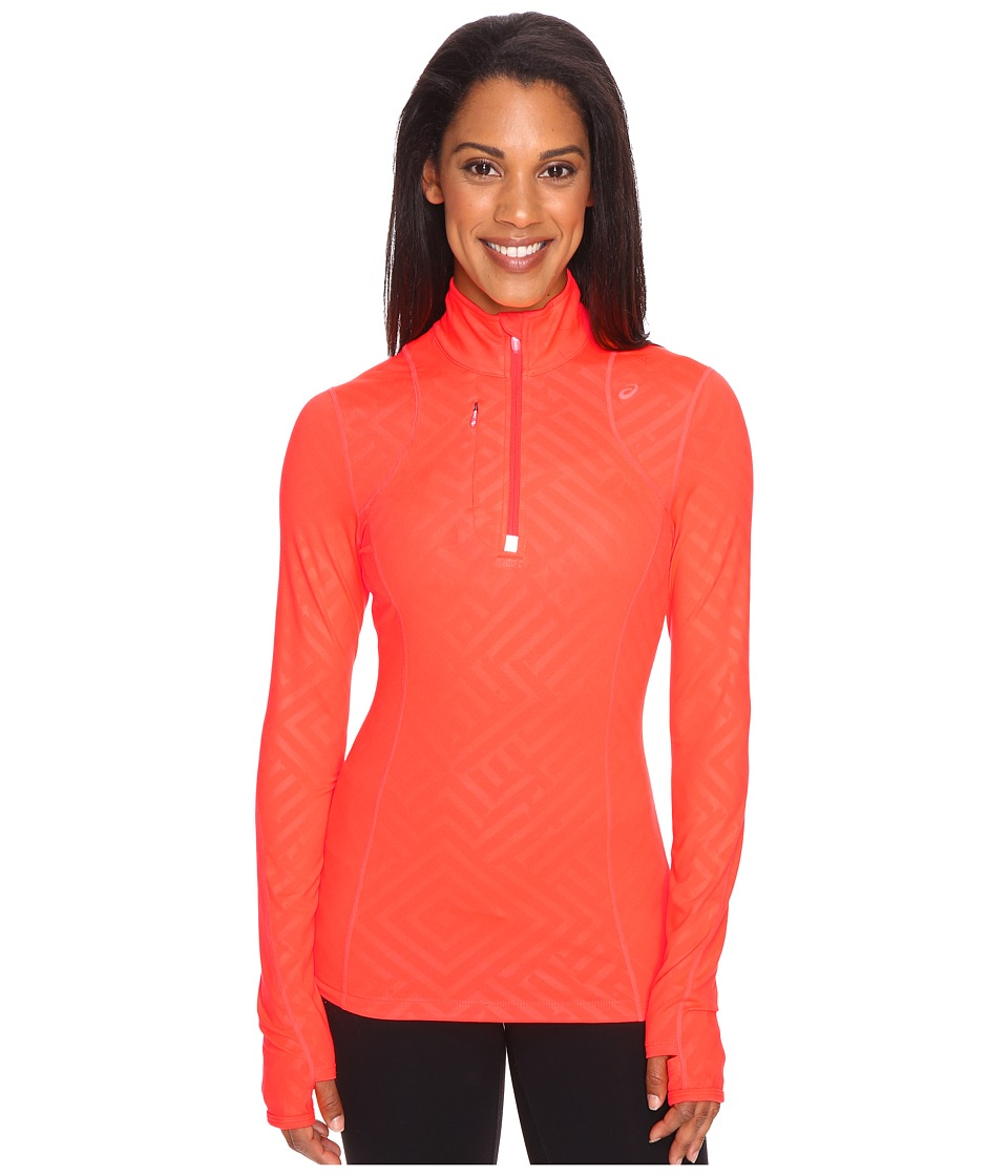 ASICS - Thermopolis 1/2 Zip (Fiery Flame Maze) Women's Workout