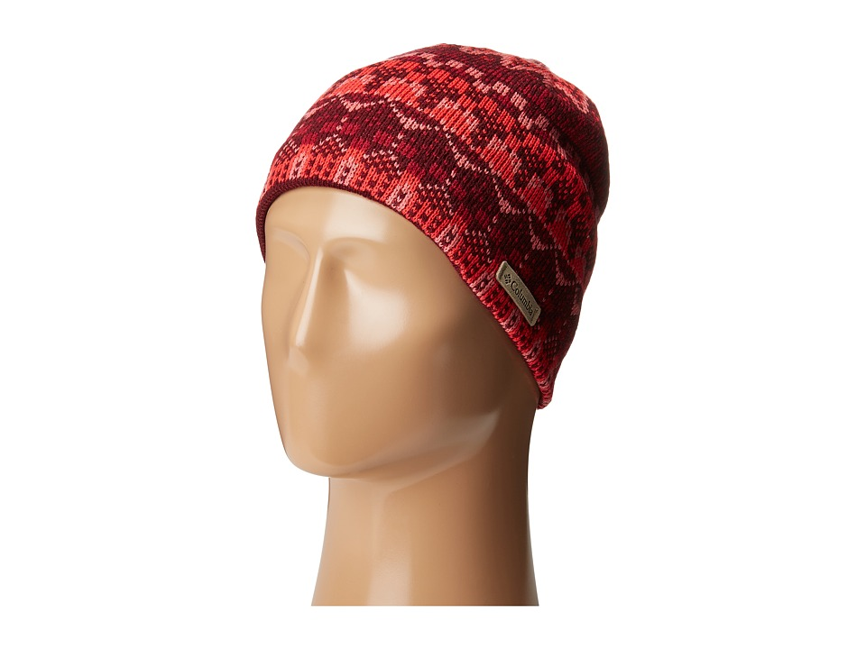 Columbia - Alpine Action Beanie (Red Camellia Wintery Fairisle) Beanies