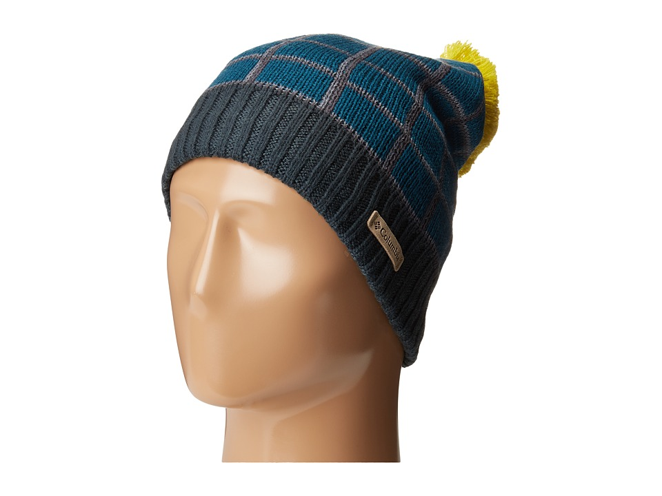 Columbia - Winter Blur Beanie (Deep Water Shadow Grid) Beanies