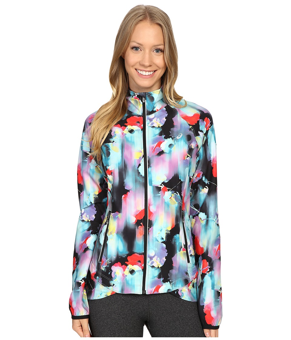 ASICS - Packable Jacket (Inkblot Floral) Women's Coat