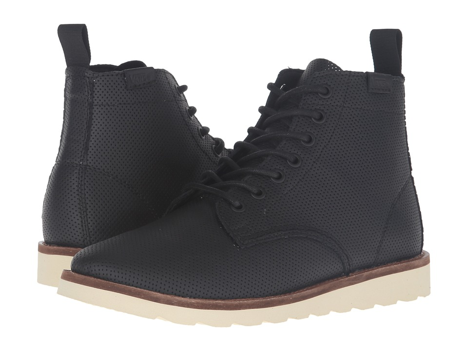 Vans - Sahara Boot ((Perfed Leather) Black) Women's Lace-up Boots