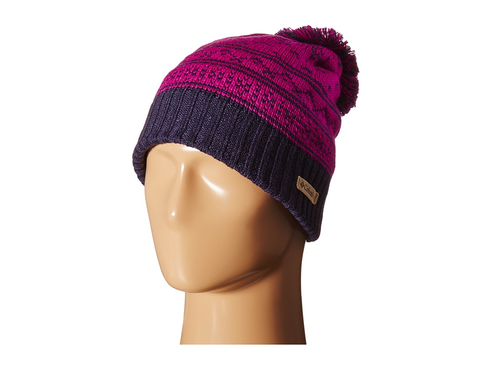 Columbia - Winter Blurtm Beanie (Bright Plum Nordic Stripe 2) Beanies