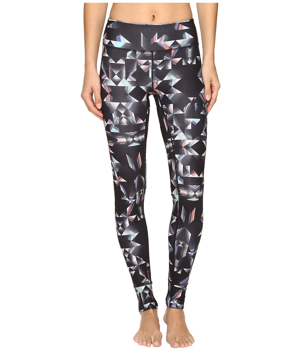 ASICS - Performance Run Printed Tights (Black/White Glitch Print) Women's Casual Pants