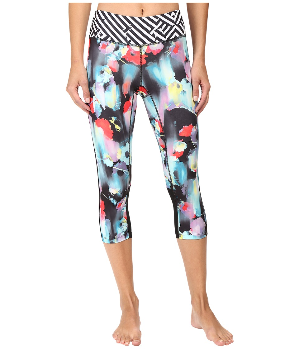 ASICS - Performance Run Printed Capris (Inkblot Floral) Women's Capri