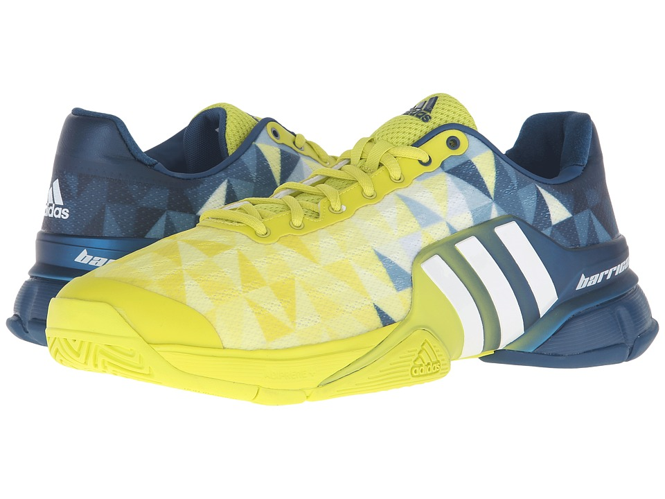 adidas - Barricade 2016 (Shock Slime/White/Tech Steel) Men's Tennis Shoes
